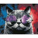 Космический кот Раскраска картина по номерам на холсте