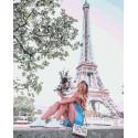 Летний Париж Раскраска картина по номерам на холсте