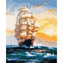 Под парусами Раскраска картина по номерам на холсте