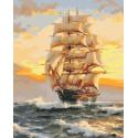 На всех парусах Раскраска картина по номерам на холсте