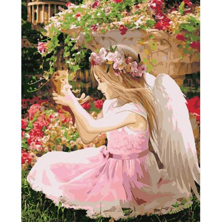 Маленький ангел Раскраска картина по номерам на холсте U8004