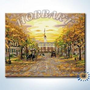 Бульвар в стиле ретро Раскраска по номерам акриловыми красками на холсте Hobbart
