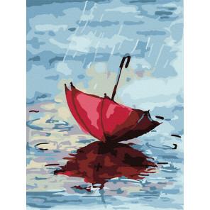 красный зонтик Раскраска картина по номерам на холсте KH1006