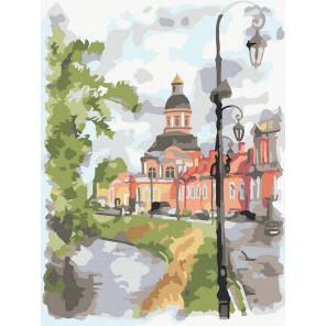 Городской пейзаж Раскраска картина по номерам на холсте KH1000