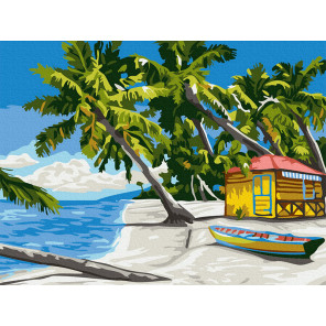 Райский островок Раскраска картина по номерам на холсте KH0992