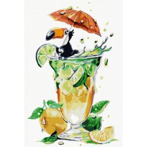 Освежающий коктейль Раскраска картина по номерам на холсте KH1041