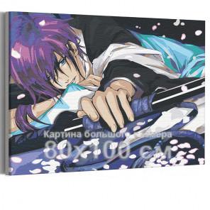 Сакура и демоны / Аниме 80х100 см Раскраска картина по номерам на холсте AAAA-ANI003-80x100