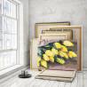 Пример работы Жёлтые тюльпаны 75х100 см Раскраска картина по номерам на холсте AAAA-RS142-75x100