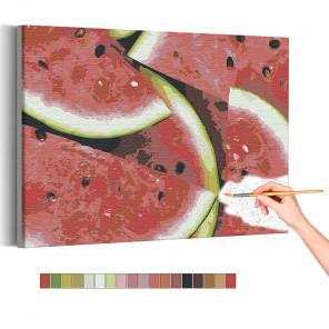 Сочный арбуз Раскраска картина по номерам на холсте AAAA-RS136