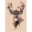 Волшебный олень Раскраска картина по номерам на холсте