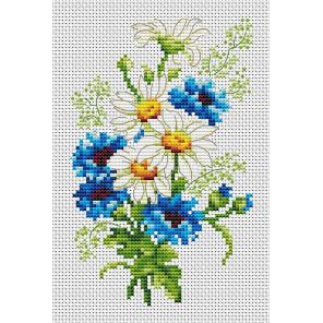 Ромашки и васильки Набор для вышивания Многоцветница МКН 10-14