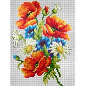 Маковый букет Набор для вышивания Многоцветница МКН 13-14