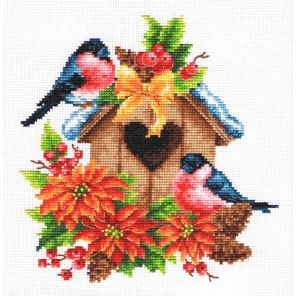 Снегири Набор для вышивания Многоцветница МКН 18-14