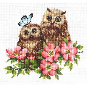 Совушки Набор для вышивания Многоцветница МКН 20-14