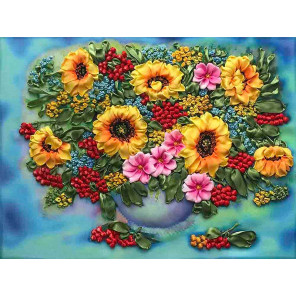 Подсолнухи Набор для вышивки лентами Многоцветница МЛ(Н)-3011