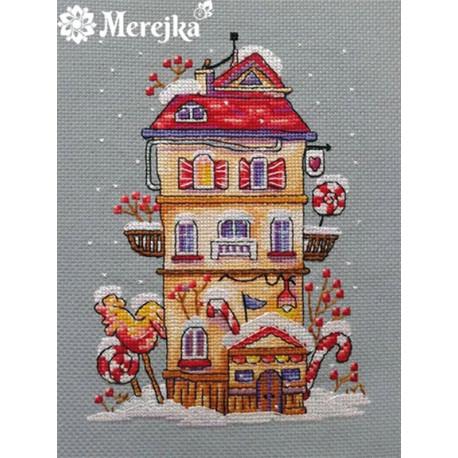 Зимний домик Набор для вышивания Merejka K-51