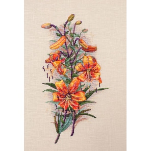 Винтажные лилии Набор для вышивания Merejka K-90