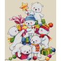 Рождественские мишки Набор для вышивания Merejka
