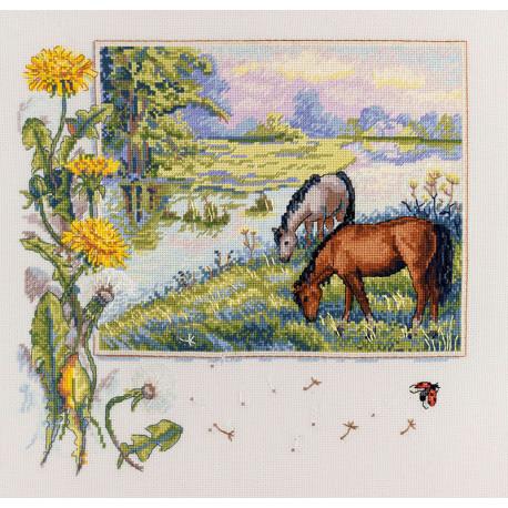 Лошади Набор для вышивания Merejka K-139