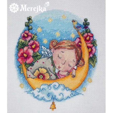 Колыбельная для доченьки Набор для вышивания Merejka K-23