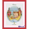 Вариант оформления в рамке Колыбельная для доченьки Набор для вышивания Merejka K-23