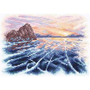 Закат на байкале Алмазная вышивка мозаика МС-067
