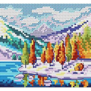 Набор Осень в горах Набор для вышивания МП-Студия М-613