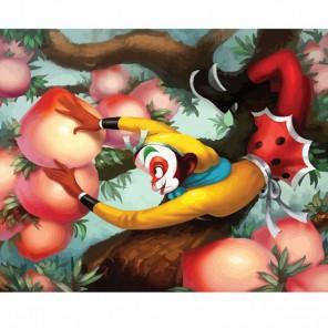 Апельсиновая обезьяна Раскраска по номерам акриловыми красками на холсте Color Kit