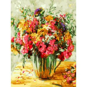 Утренний букет Раскраска картина по номерам на холсте Белоснежка 399-AS
