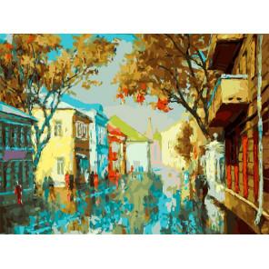 Городское утро Раскраска картина по номерам на холсте Белоснежка 401-AS