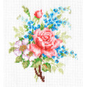 Роза и незабудки Набор для вышивания Многоцветница
