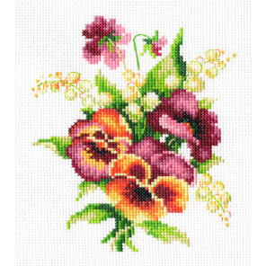 Анютины глазки Набор для вышивания Многоцветница МКН 07-14