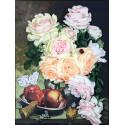 Розы с медом Набор для вышивания лентами Многоцветница