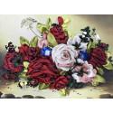 Шмель на розах Набор для вышивания лентами Многоцветница