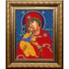 Вариант оформления в рамке Владимирская Богородица Набор для вышивания бисером Вышиваем бисером L-160