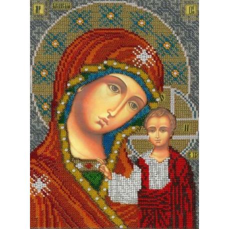 Икона Казанской Божией Матери Набор для вышивания бисером Вышиваем бисером L-157