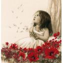 Девочка на маковом поле Набор для вышивания VERVACO