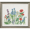 Вариант оформления в рамке Полевые цветы Набор для вышивания PERMIN 70-0306
