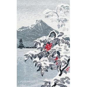 Зимний пейзаж с рябиной Набор для вышивания Овен 1398