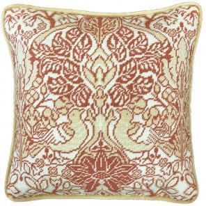Голубь и роза. Уильям Моррис Набор для вышивания подушки Bothy Threads TAC12