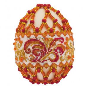 Яйцо пасхальное. Рябиновые бусы Набор для бисероплетения Риолис В217