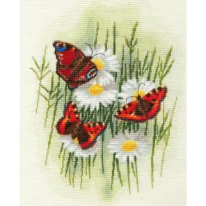 Волшебные бабочки Набор для вышивания Золотое руно БР-020