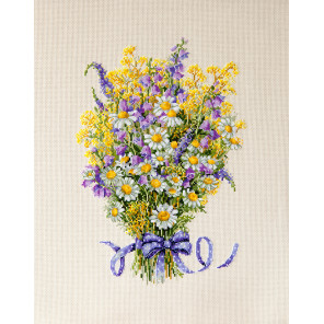 Летние цветы Набор для вышивания Merejka K-72