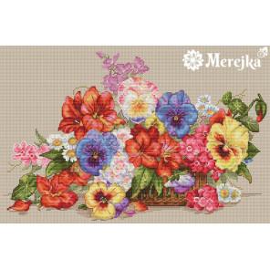 Садовые цветы Набор для вышивания Merejka K-13