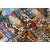 Фрагмент вышивки Деревенские магазины Набор для вышивания Merejka K-174