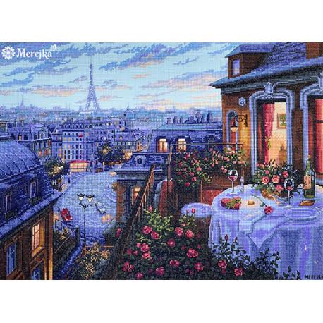 Вечерний Париж Набор для вышивания Merejka K-188