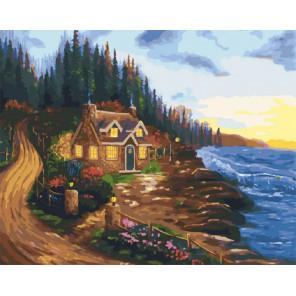 Дом у моря Раскраска картина по номерам CG2017