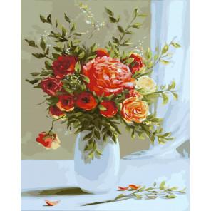 Розовый букет Раскраска картина по номерам CG2027