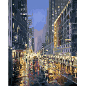 Улица города Раскраска картина по номерам CG2030