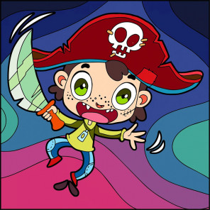 Пират Раскраска картина по номерам UE047